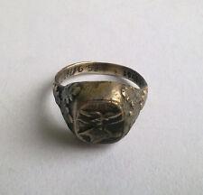 German Silver Ring Luftwaffe Krim 1941 WW2 marked