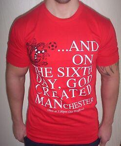fc03f4d25 MENS MANCHESTER UNITED FOOTBALL T TOP MAN UTD  CHAMPIONS-RED DEVILS ...