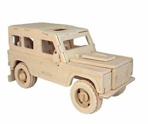 land rover woodcraft construction kit car 3d wooden model puzzle