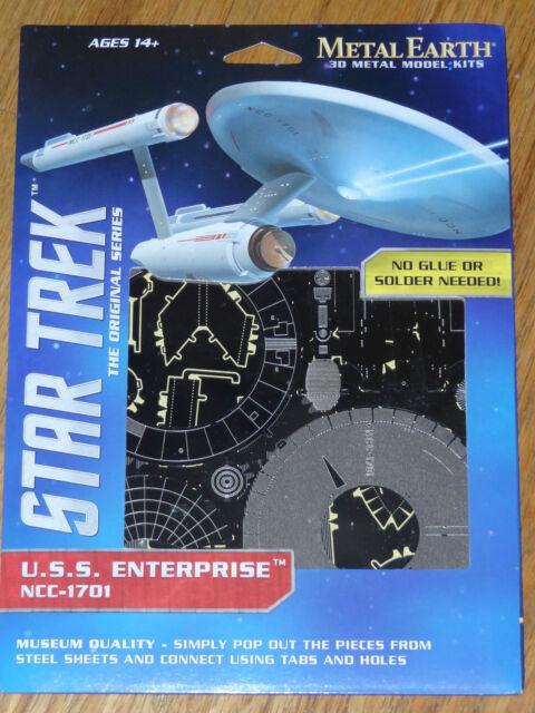 Star Trek USS Enterprise NCC-1701 Metal Earth 3D Metal Model Fascinations MMS280