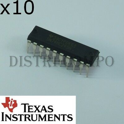10PCS Texas Instruments SN74HC245N 74HC245 Octal Bus Transceivers With 3-State