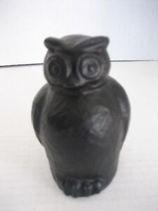 Pottery Barn Small Dark Brown Bronze Owl Table Top