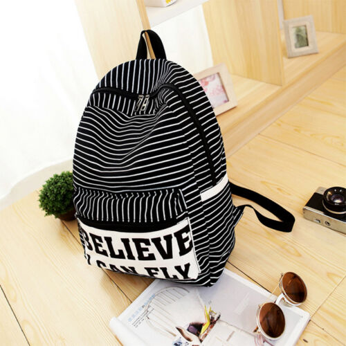 Mens Women Retro Rucksack Backpack School College Travel Shoulder Bag Satchel