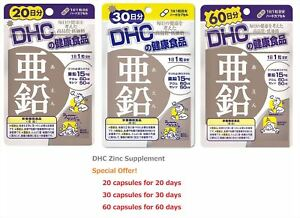New Dhc Zinc Supplement 15 Mg 20 30 60 Days Hard Capsules Japan F S