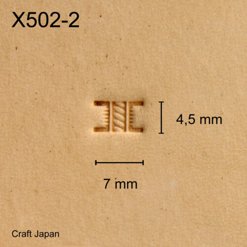 Punziereisen Punzierstempel Leather Stamp Craft Japan X502-2 Lederstempel