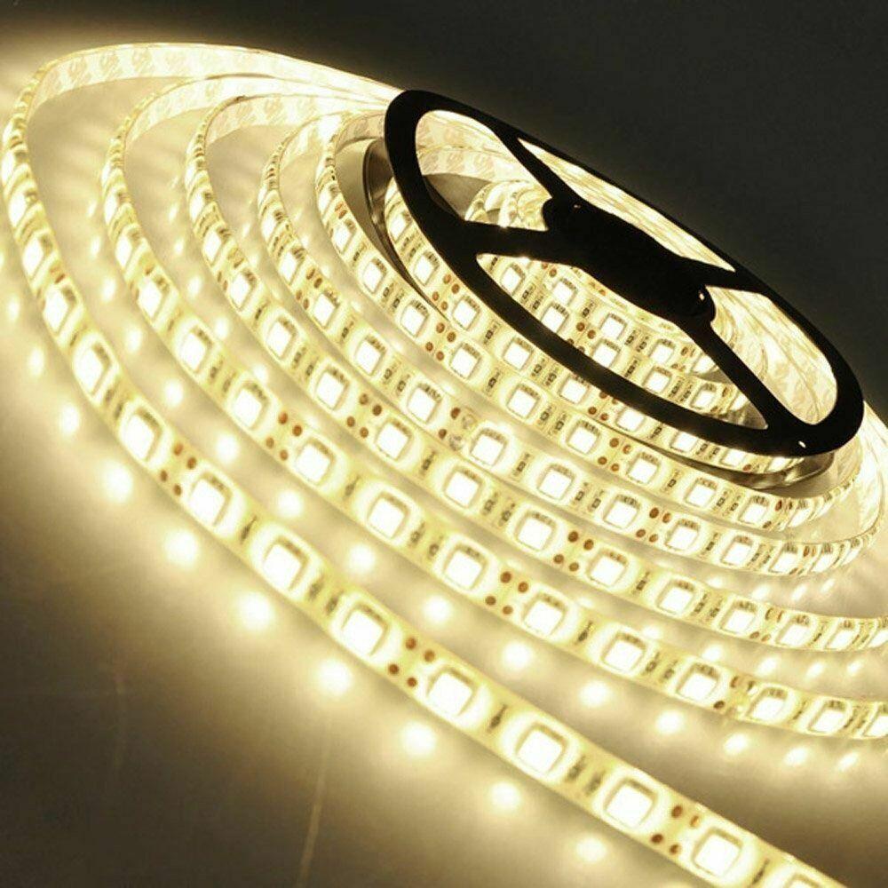12V 5m LED Streifen Stripe SMD 5050 60led//m 14.4W//m IP65 Wasserfest Band Dimmbar