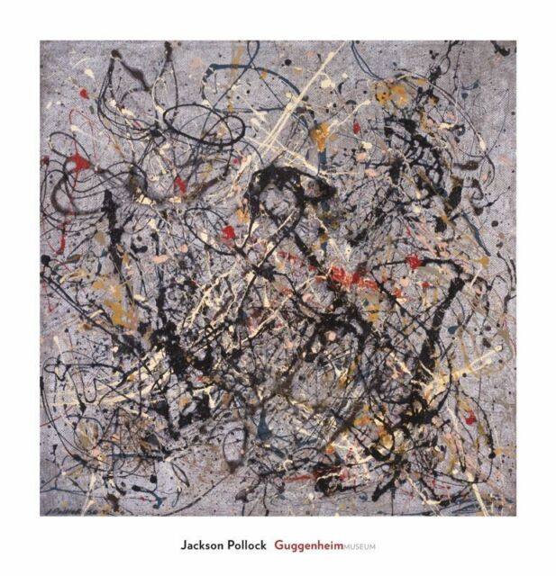 One Number 18 1950 by Jackson Pollock Abstract Print 28x29