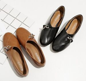 baa9e0760a La imagen se está cargando Zapatos-Bailarinas -Mocasines-Caliente-Beis-Negro-Suela-Elegantes-