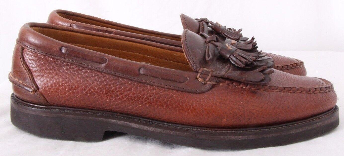 E.T. Wright 011437 USA Vibram Kiltie Tassel Casual Moc Loafers Men's US 10B