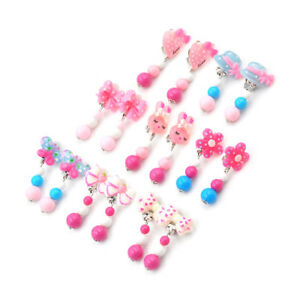 Fashion-1Pair-Clip-On-No-Pierced-Earrings-For-Kids-Children-Girls-Birthday-HXG