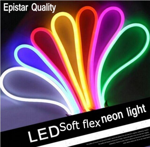120leds/m SMD 2835 5050 Flex soft led neon rope strip bar light 220V 240V  RGB