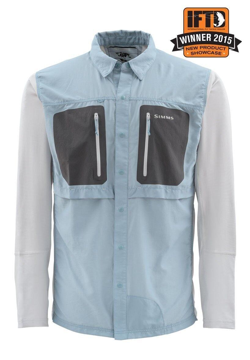 Simms GT TRICOMP lungo Sleeve Shirt  Slate blu nuovo  Closeout Dimensione XL