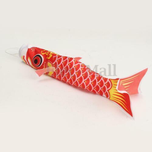 40cm Koi Nobori Carp Wind Sock Koinobori Fish Kite Flag DecoF5X7 Hanging O0K6