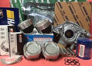Details about YCP 75 5mm Teflon Coated Vitara Pistons LowComp Set  HondaCivic D16Z6 Turbo 92-95