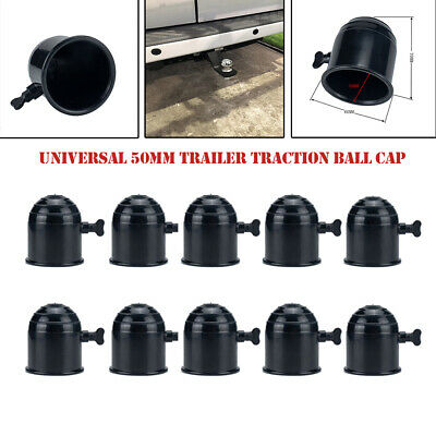 60mm Car Towbar Towball Plastic Cap Tow Ball Towing Protective Cover Black