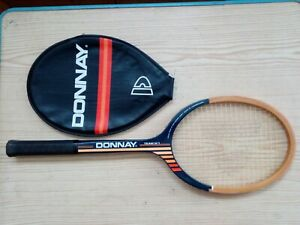 Raqueta-Tenis-Madera-Antigua-Donnay-Team-N-1-Con-Funda