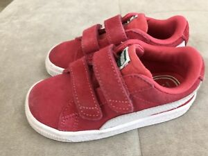 Image is loading Puma-Girls-Shoes-Sneakers-Size-8-Pink-White- 6c73b93bb