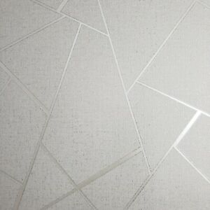 Triangle-Geometric-lines-wallpaper-white-silver-metallic-Textured-wall-coverings