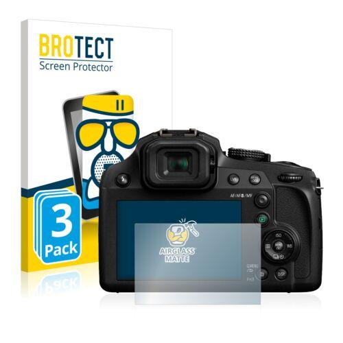 3x protección de vidrio diapositiva Panasonic Lumix dc-fz82 Matt de vidrios de seguridad antirreflejos