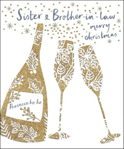 Sister /& Brother-In-Law Emma Grant Christmas Greeting Card Beautiful Cards
