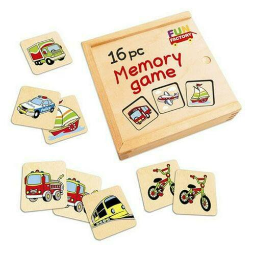 Fun Factory Wooden Memory Game 16 Piece