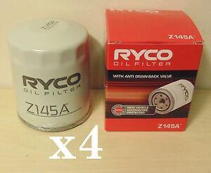 Z145A-RYCO-Oil-Filter-x4-Bulk-pack-for-Nissan-GTR-R32-R33-R34-Skyline-CA18DET-VL