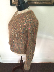 80-s-Vintage-Brown-Corded-Mohair-Cropped-Sweater