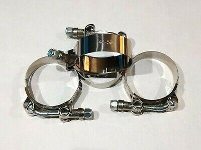 51mm Stainless Steel T-Bolt Clamps Turbo Intake Intercooler Clamp 4PCS 1-1//2 44mm