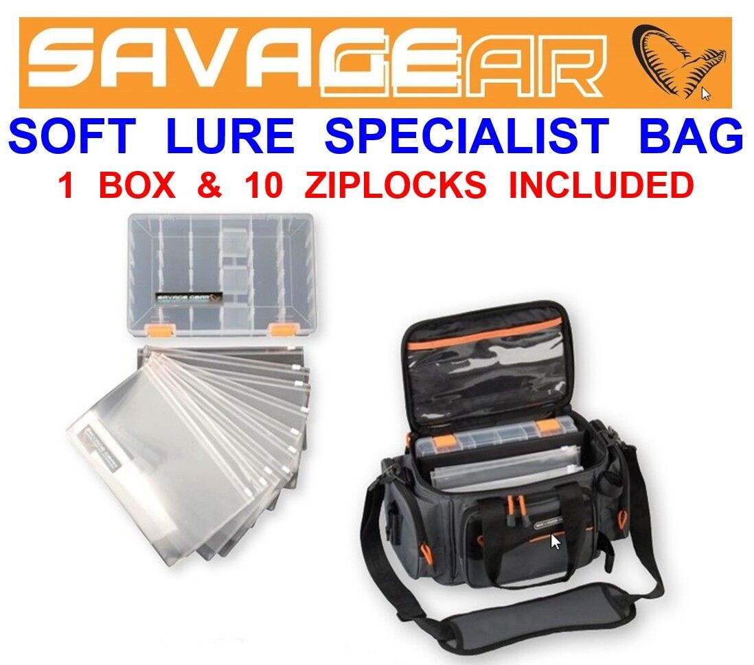 SAVAGE GEAR SOFT LURE SPECIALIST BAG FOR 3D FRY CANNIBAL 4PLAY SHADS SANDEEL ETC