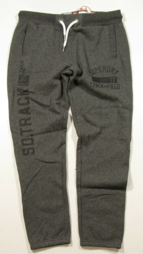 Superdry Men/'s Charcoal Black Graphic Trackster Jogger Pant