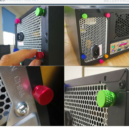 6#-32 UNC Aluminum Alloy Knurled Thumb Screws PC Computer Case Hand Grip Bolts