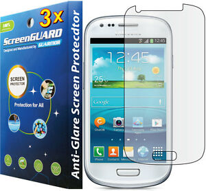 3x Anti-Glare LCD Screen Protector Samsung Galaxy S3 Mini ...