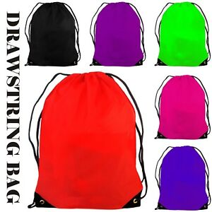 d89ee309f9 Image is loading Waterproof-Drawstring-Backpack-School-Gym-PE-Swim-Travel-