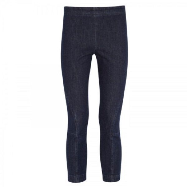 STYLISH NEW  450 INDIGO 'JACNO' CROP STRETCH LEGGINGS BY THE ROW