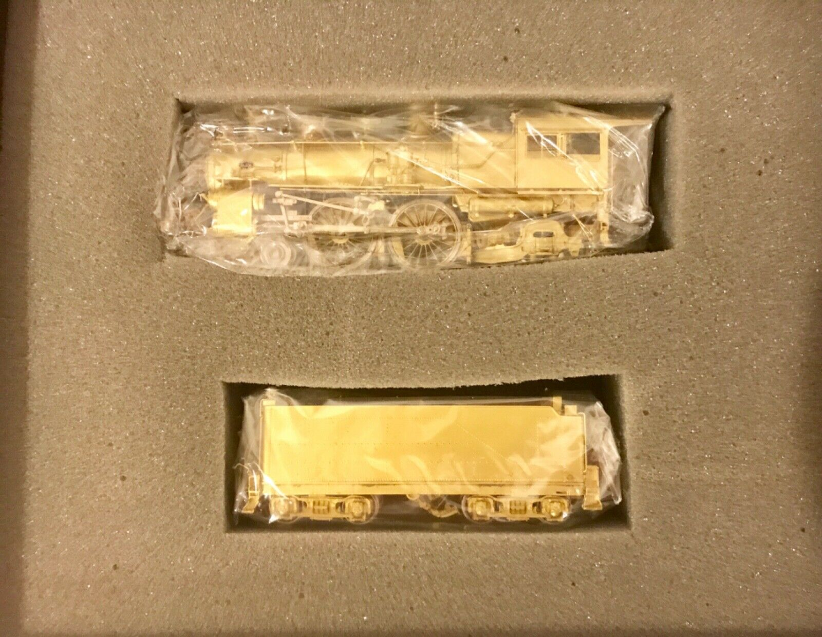 Key Imports HO Scale Brass PRR E-5S 4-4-2 Atlantic Locomotive & Tender NIB
