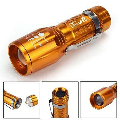 New Portable 2200 Lumens CREE XM-L LED Flashlight High Power Torch light Zoom
