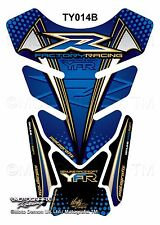 Yamaha YZF R1 / R6 Blue Gold Motorcycle Tank Pad Motografix 3D Gel Protector