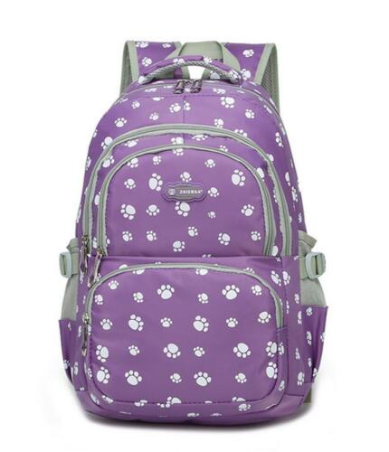 Top Girls School Bag Dog Paws Girl Large Backpack Travel Rucksack Handbag Bags