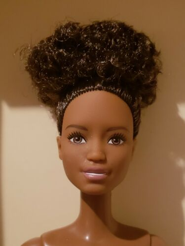 *NUDE DOLL* 2018  AFRICAN AMERICAN  BARBIE W/ CURLY UPDO
