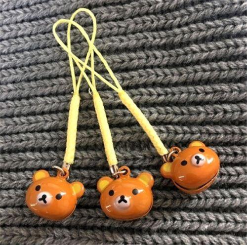 FD3689 Cartoon Rilakkuma Relax Bear Bell Keyring Key Chain Wallet Key Ring 1pc ☆