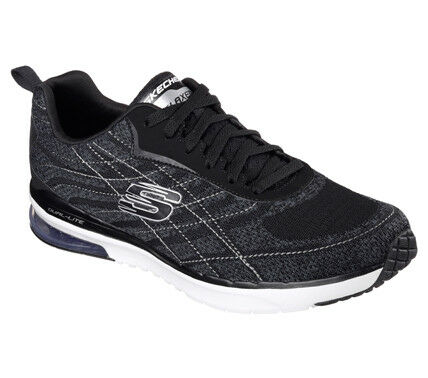 Zapatos de mujer baratos zapatos de mujer Skechers MEN'S Skech-Infinity Negro Blanco Tenis Zapatillas Air