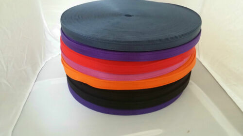 Cushioned Webbing Tracking Lunge Rein Long Line In Various Colours  19 mm