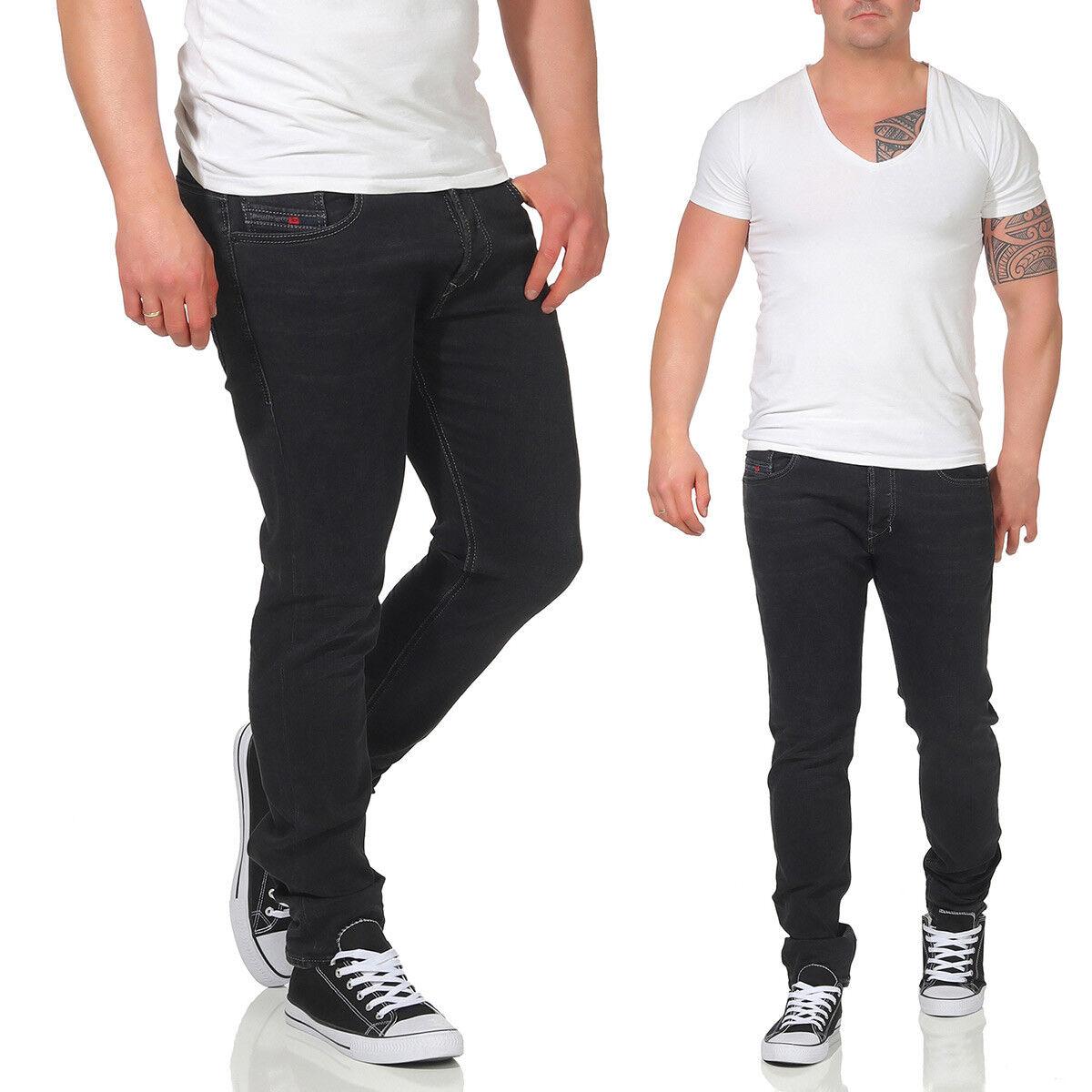 JEANS DIESEL TEPPHAR UOMO STRETCH PANTALONI SLIM Carrot Skinny Jeans Grigio Antracite