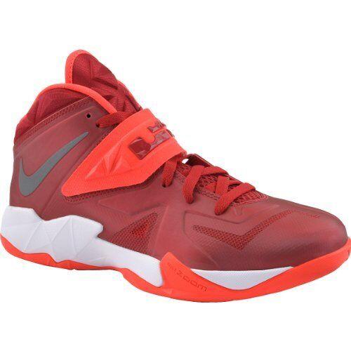 Nike Zoom Soldier VII - Gym Red / Metallic Silver-Bright Crimson, 11US