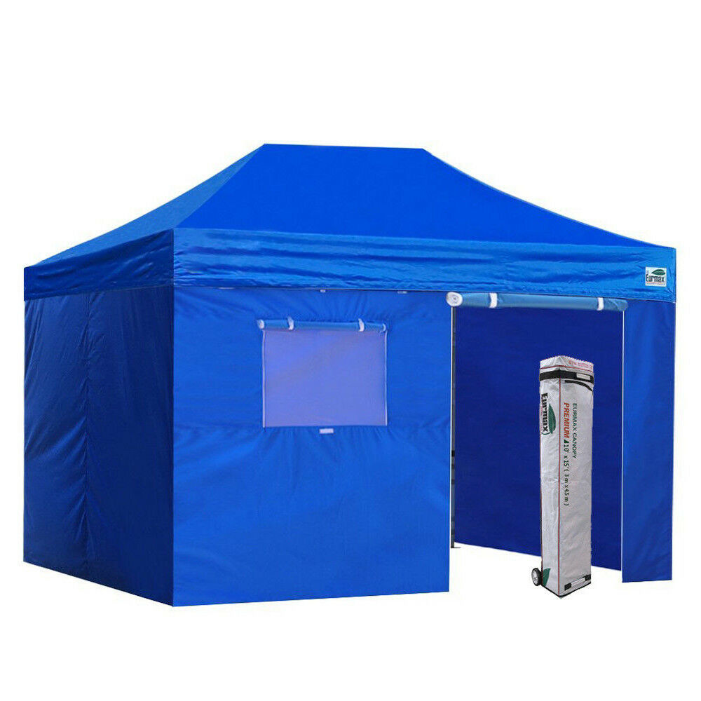 Commercial Ez Pop Up Canopy 10x15 Outdoor Tent Shade Shelter+4 Side Zipper Walls