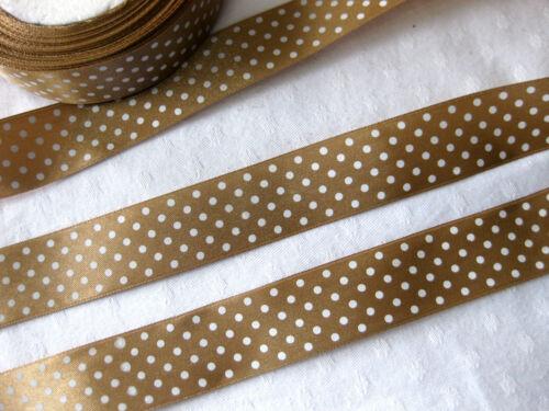 stb5 muchos colores 3m banda de satén//0,66 € por metro//con punto-Design 25mm de ancho