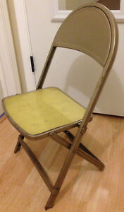 Fantastic Details About Vintage Kids Metal Folding Chair Distressed Durham Rusty Old Caraccident5 Cool Chair Designs And Ideas Caraccident5Info