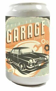 Money Box Nostalgic Car Retro Garage Ceramic Print Vintage