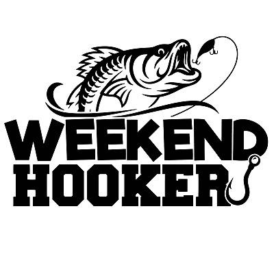 RV FISH ON Hook Fishing Decal Vinyl Sticker for Cars Truck Kayak Boat
