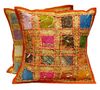Embroidered Indian Decorative Toss Throw Cushion Pillow Cover Set Home Decor